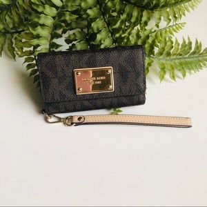 MK Brown Monogram Card Holder IPhone 4S